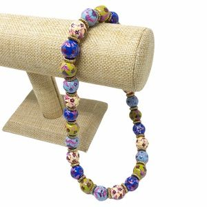 Angela Moore Painted Bead Necklace
